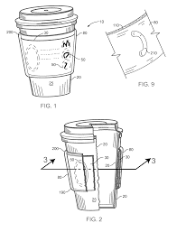 patent us7922031 insulator sleeve for a beverage container