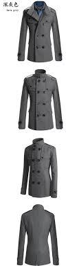 2017 autumn sobretudo masculinos preto cool mens coats overcoats