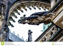gargoyles gargoyles on the cathedral of st vitus in prague stock photo
