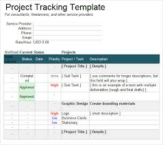 Project Tracking Template Excel Project Tracking Template 6 Free For Pdf Doc