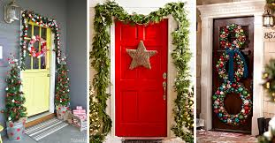 Christmas Decorations For Archway 50 best christmas door decorations for 2017