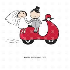 Groom And Groom Wedding Card Wedding Card Newly Married Bride And Groom On Red Motor Scooter