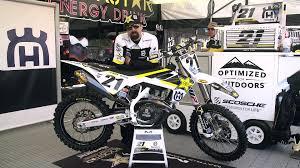 works motocross bikes jason anderson u0027s husqvarna fc 450 factory bike friday video
