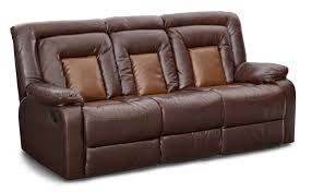 sofas couches living room seating value city furniture mustang dual reclining sofa with console brown