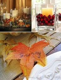 thanksgiving centerpieces with corn and candles grab