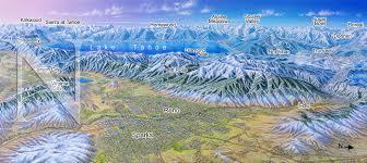 Ski Utah Map by Reno Nevada In Winter James Niehues Map Artist Ski Maps