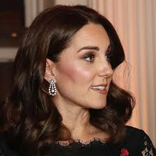 kate middleton diamond earrings kate middleton dazzles in lace at kensington palace gala hello