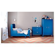 busunge extendable bed medium blue 80x200 cm ikea