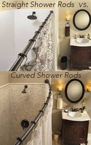 52 best curved shower curtain rods images on bathroom