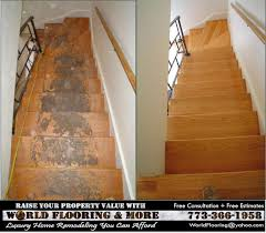 wood stairs installation and stair repair in chicago and oak lawn