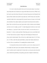 sample of reaction paper essay math reflection multiplication mathematics