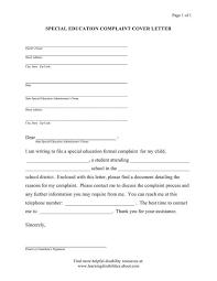sample complaint letter against teacher cover letter