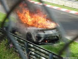 2016 acura nsx burns to the ground during u0027ring testing update