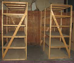 Wood Shelving Units by 3 Sections Of Wood Shelving Units Item 2334 Sold Sept