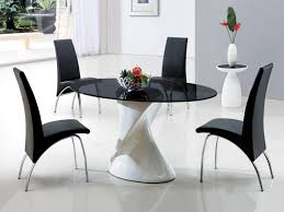 Oval Glass Dining Room Table Other Black Oval Dining Room Table Modern On Other With Regard To