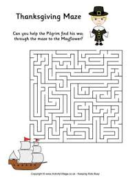 printable maze pages for thanksgiving happy thanksgiving