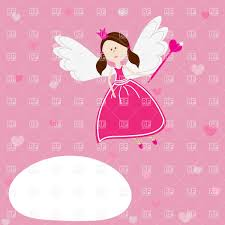 cartoon cute beautiful fairy with wings and magic wand vector