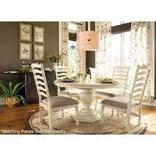 paula deen home casual pedestal dining table with 18