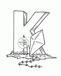 letter k alphabet coloring pages for kids abc printables free