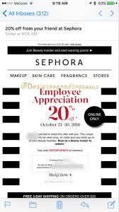 is sephora having a sale on black friday sephora employee appreciation 20 off sale october 23rd through
