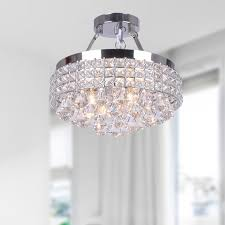 Crystal Ceiling Mount Light Fixture by Flush Mount Crystal Chandelier Lighting For Room Top Lamps