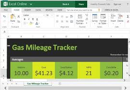 fuel report template free gas mileage tracker for excel