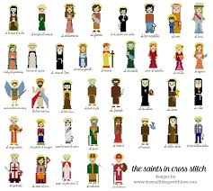 40 catholic saints in cross stitch u2013 do small things with love