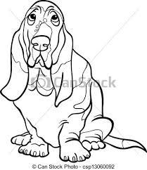 eps vectors basset hound dog cartoon coloring book black
