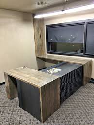 furniture popular of reclaimed wood office desk perfect office