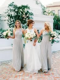 grey bridesmaid dresses these photos prove neutrals on neutrals is wedding palette