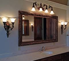 Vanity Framed Mirrors Bathroom Chunky Wood Framed Mirror Pictures Decorations