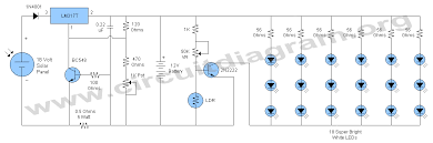12v solar led night activated lamp circuit diagram