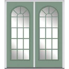 mmi door 72 in x 80 in clear glass left hand full lite round top