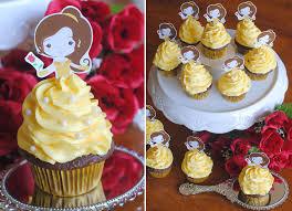 beauty beast cupcake topper free printable