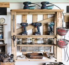 pallet garage storage organizer u2014 railing stairs and kitchen