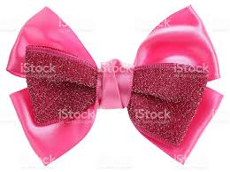 pink hair bow pink hair bow tie with sequins stock photo 518815036 istock