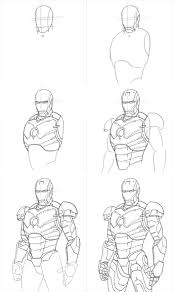 drawn thor drawing iron man pencil and in color drawn thor
