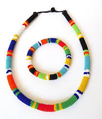 beads necklace handmade images African zulu beaded necklace and round bracelet set jpg