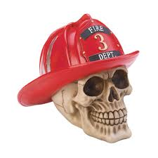 skull figurines skull party decorations american firefighter