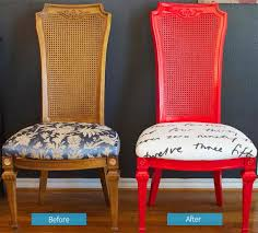 Brilliant Before And After Wooden Chair Makeovers Home Design - Dining room chair reupholstering