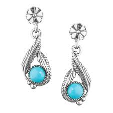 turquoise earrings silver sleeping beauty turquoise earrings made in usa