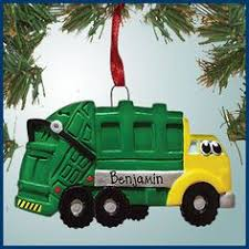 Ornaments For Trucks Tote Bag Dump Truck Or Garbage Truck Personalized Toddler Or Big