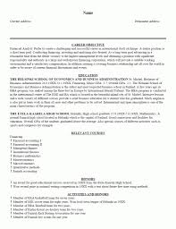 Sample Resume Format Of Fresh Graduate by Sample Resume Format For Fresh Graduates One Page Good Examples