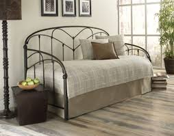 Modern Daybed With Trundle Furniture White Steel Daybed With Trundle Having Rectangle Red
