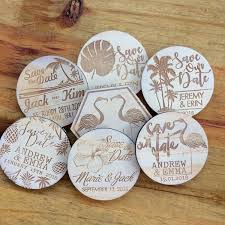 Rustic Save The Date Magnets Save The Date Magnets 10 Pieces Wooden Magnets Rustic Wood