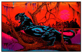 free black light posters jungle cat blacklight poster poster and print