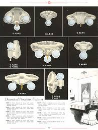 1930s light fixtures on light fixture parts simple rectangle light