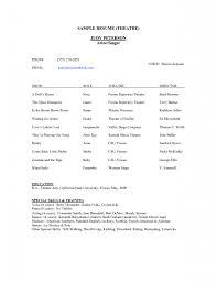 Example Acting Resume Resume Beginner Actor Resume Actor Cv Template Template