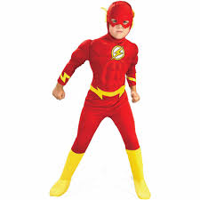 Halloween Costumes For Girls Size 14 16 Flash Muscle Deluxe Child Halloween Costume Walmart Com
