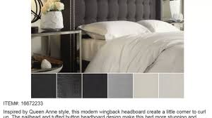 Wingback Tufted Headboard Cheap Inspire Q Marion Nailhead Wingback Tufted Queen Sized